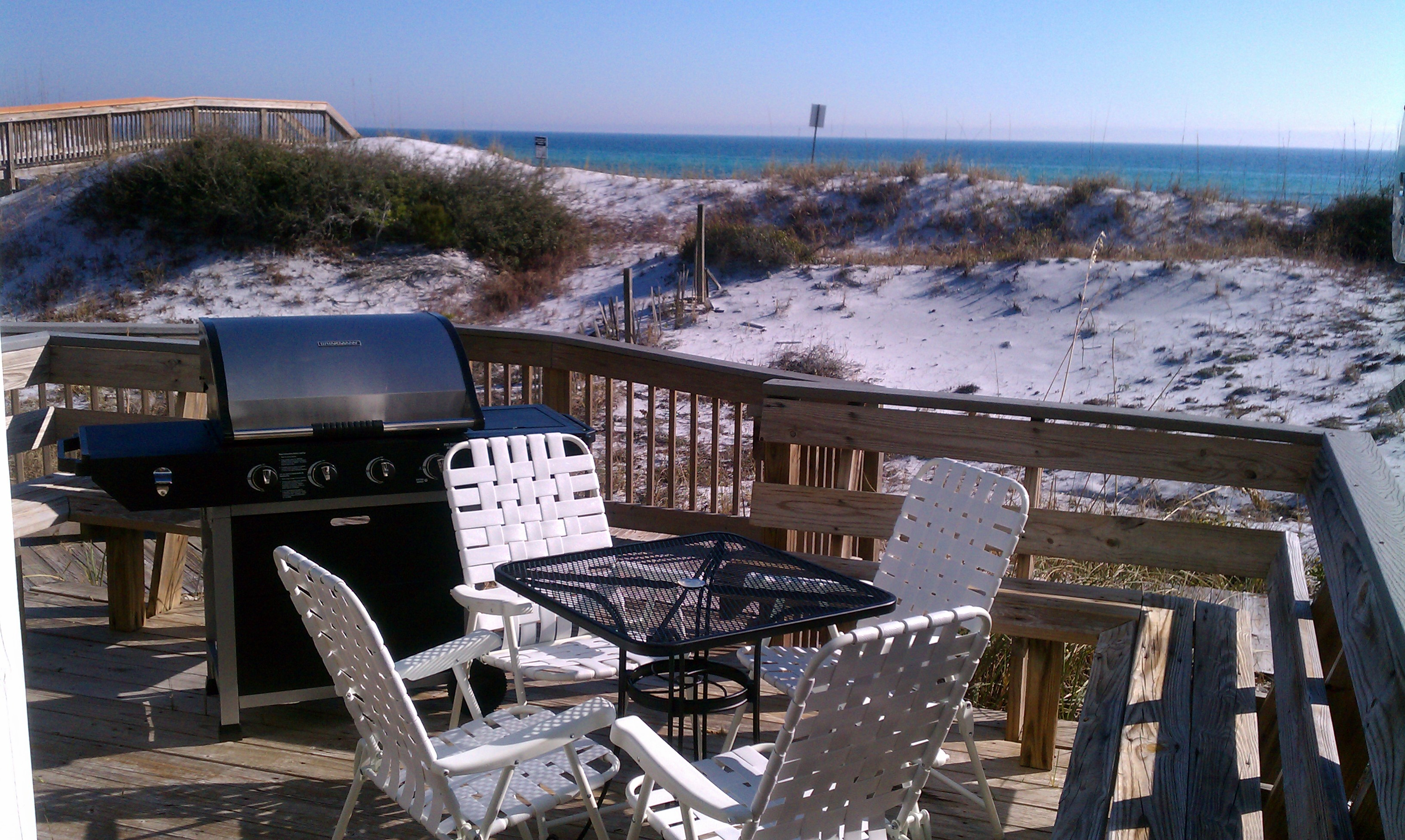 Grill right out back in the dunes. Try that with a condo!